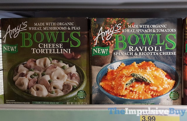 Amy's Bowls (Cheest Tortellini and Ravioli Spinach & Ricotta Cheese)
