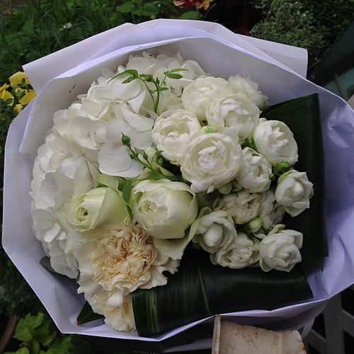 昨日頂いてきた花束も、みんなCOUPさんのお店のもの。我が家が花屋さん状態(*^^*)