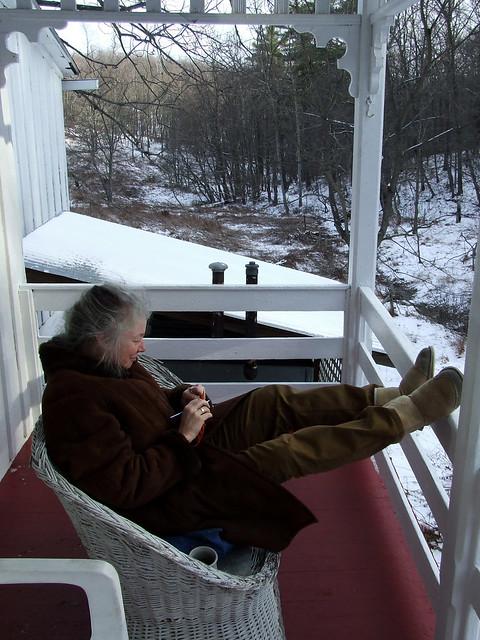 Rachel on porch 1