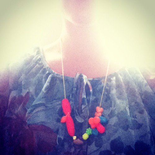 Karítas gave me this #necklace she made for my #birthday ❤