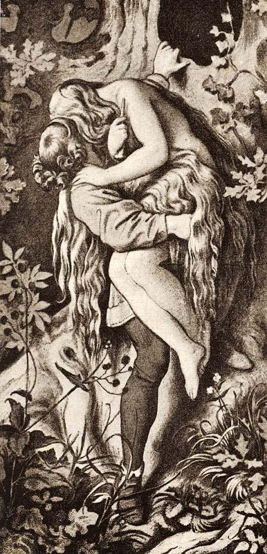 Moritz von Schwind, Das Märchen von den sieben Raben. Der Prinz und seine Braut, 1858