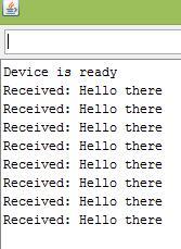 Serial result Hello world