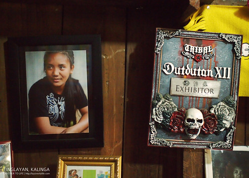 Grace's portrait in their home. Fang-Od was invited to Dutdutan 2012, but didn't go because she thought that if she went to Manila, she might just get sick. Grace went in her place.