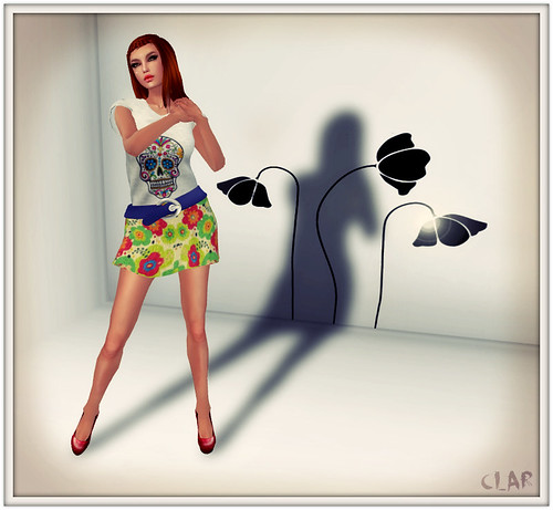 Lavenda Chic Floral MiniSkirt