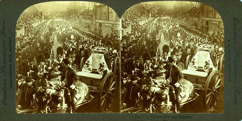 Funeral of Queen Victoria of Great Britain, Albumen Stereoview, London, 2 February, 1901