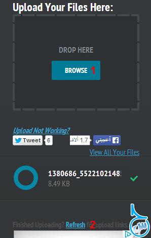 إرفع ملفاتك على موقع Direct Link Upload واحصل على مشغل ميديا
