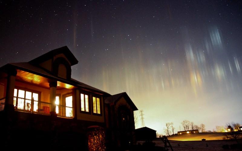 Northern Lights? Light Pillars