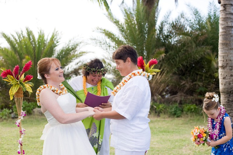 Vows with laughter
