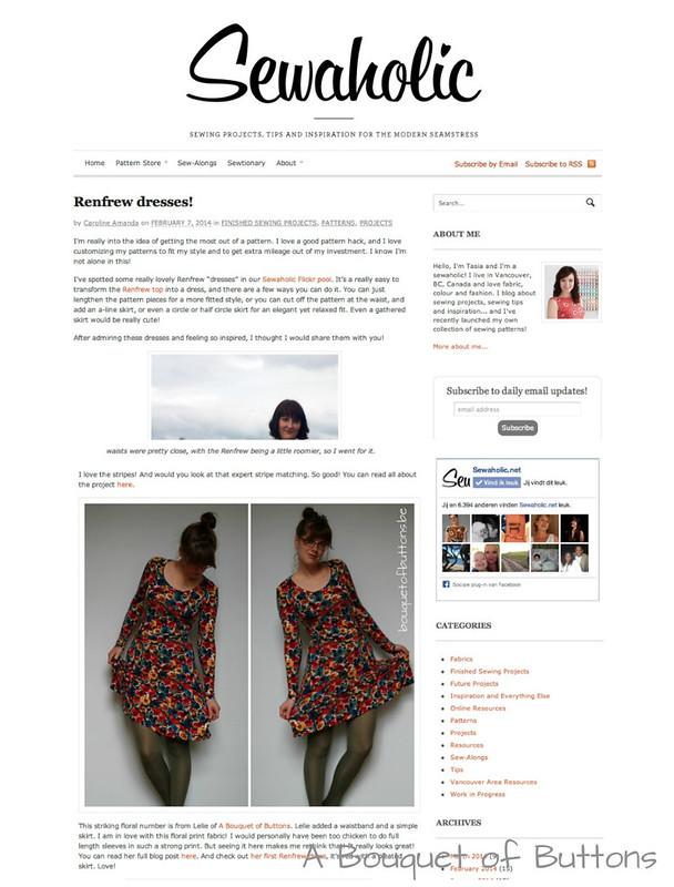 Sewaholic, Renfrew dress