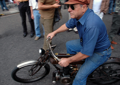 Classic Motorbike in Car Show in Buenos Aires
