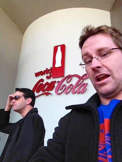 World of Coke entrance photobomb