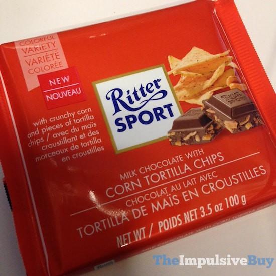 Ritter Sport Milk Chocolate with Corn Tortilla Chips