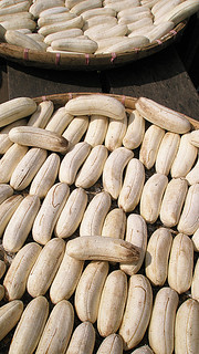 bananas laid out to dry (Laos)