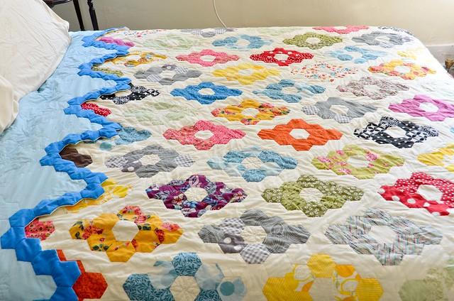 Hexagon Quilt - top