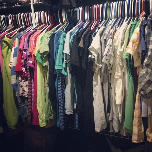 I sure do have a lot of clothes for someone who doesn't get dressed everyday. #captainlazypants #sorrynotsorry #clothes