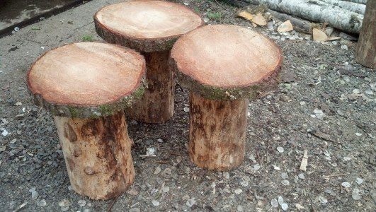 Natural Wood Cake Stands