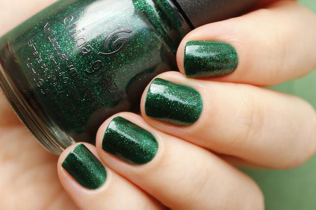 02 China Glaze Emerald Sparkle swatches