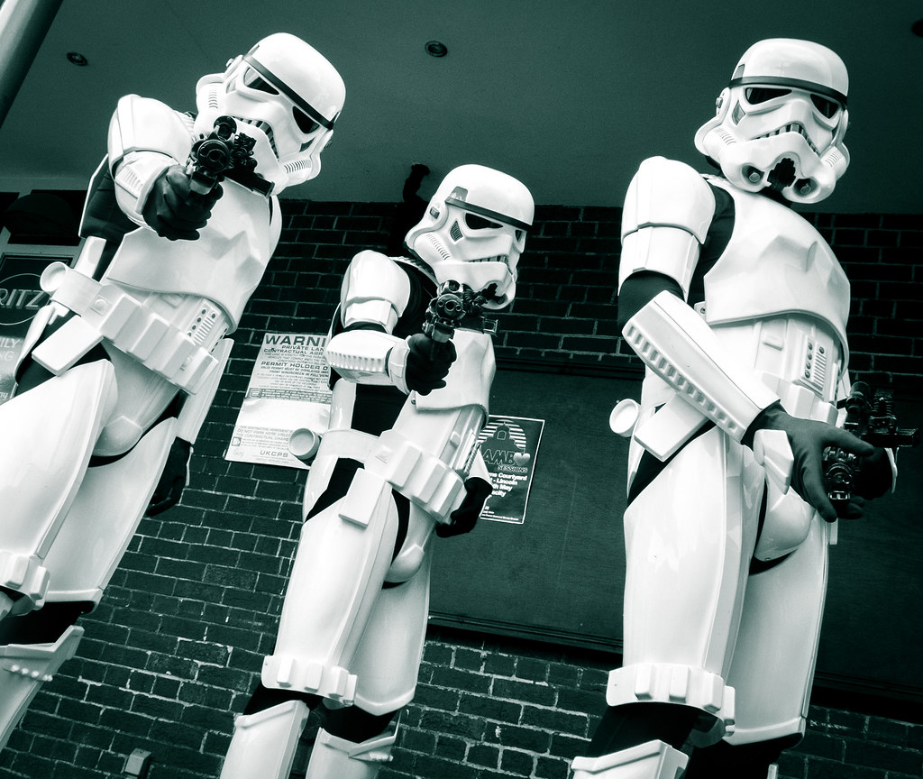 Rough justice from three angry StormTroopers.