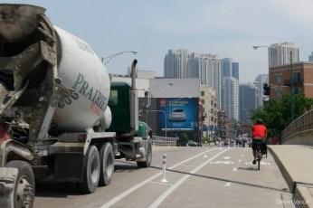 New bike lanes on Milwaukee Avenue