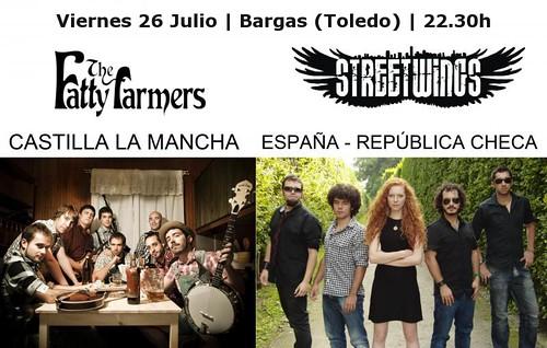 The Fatty Farmers + Street Wings en Concierto