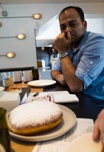 Eyeing the doughnut