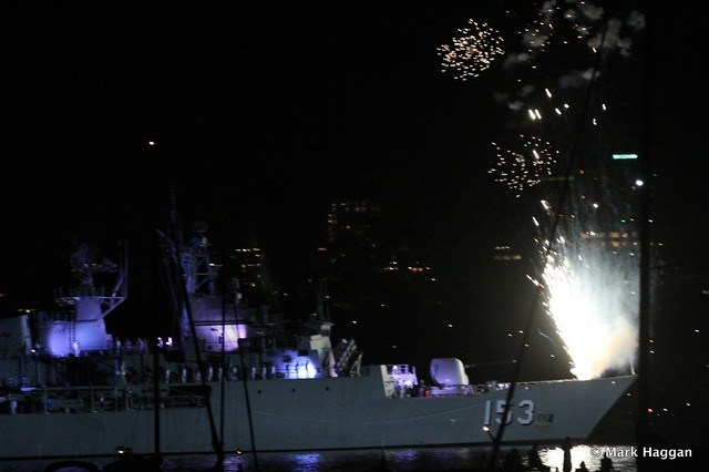 Fireworks to celebrate the International Fleet Review, Sydney, 2013
