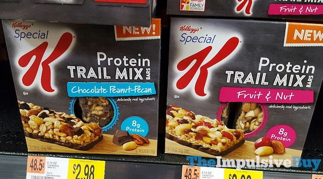 Kellogg's Special K Protein Trail Mix Bars (Chocolate Peanut Pecan and Fruit & Nut)