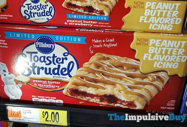 Pillsbury Limited Edition Peanut Butter & Strawberry Toaster Strudel Pastries