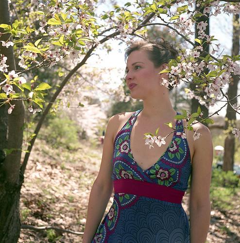 Nina Among the Cherry Blossoms