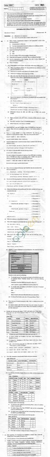 CBSE Board Exam 2013 Class XII Question Paper -Information Practices