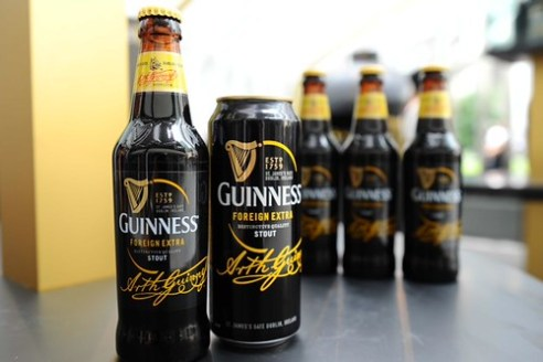 A look at the sleek packaging of the refreshed GUINNESS Foreign Extra Stout livery