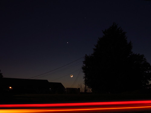 The Moon, Jupiter, and a Drive-by Ranger by pixygiggles