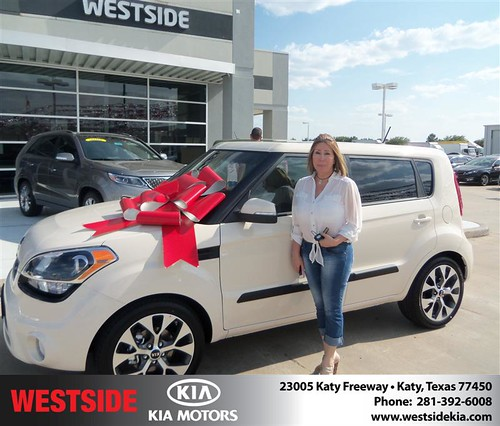 Thank you to Maria Rincon on the 2013 Kia Soul from Orlando Baez and everyone at Westside Kia! by Westside KIA