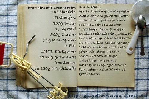 Einkaufszettel Mandelbrownies by Glasgefluester