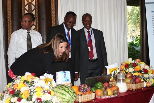 Ms Kaarli Sundsmo, representing the USAID East Africa Regional Mission Director, launches the AgInvest portal