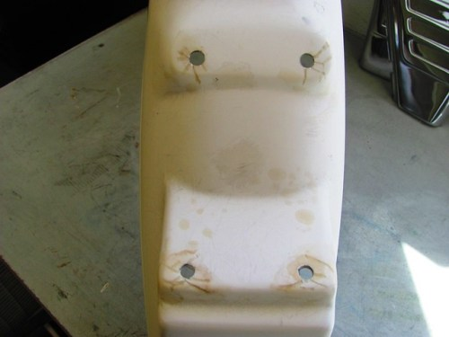 Rear Fender After Sanding Fiberglass Resin