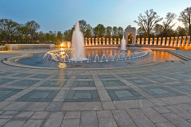Washington DC World War II Memorial - HDR