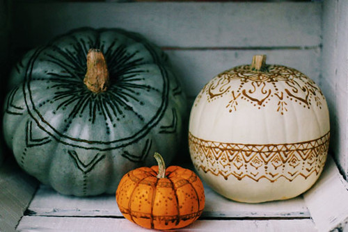 wood burned pumpkins