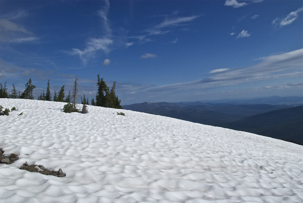 Snowbank on Baldy