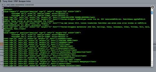 PDF as XML preview