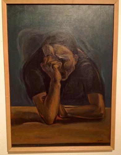 A Sad Self-Portrait, Song Young-ok, 1973