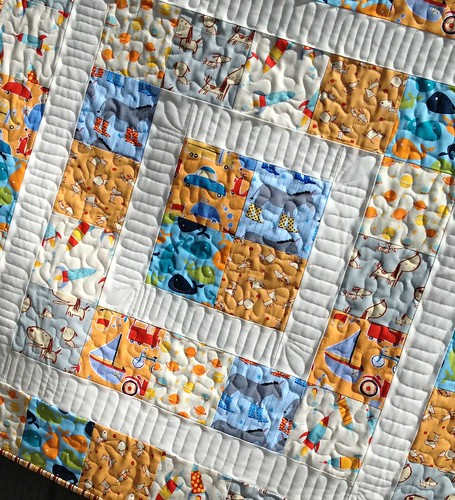 Baby boy quilting detail