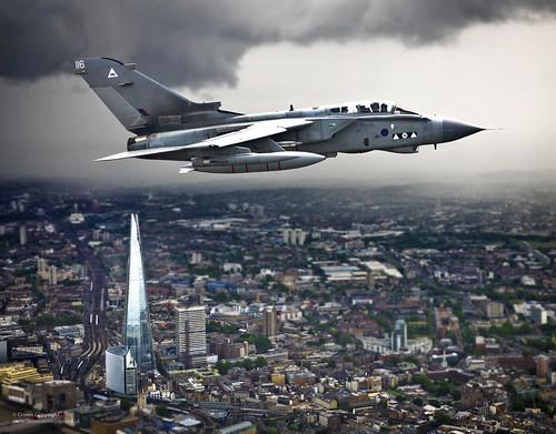 Tornado GR4 Over London