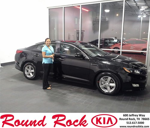 Thank you to Brenda Dominguez on your new 2014 #Kia #Optima from Eric Armendariz and everyone at Round Rock Kia! #NewCarSmell by RoundRockKia