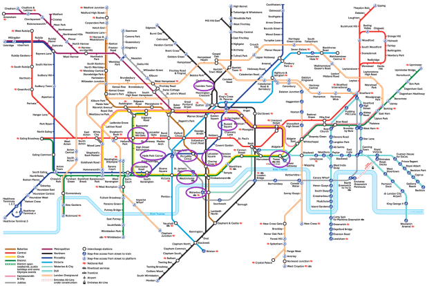 Map London Tube Londres Mapa