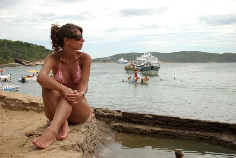 Mari en la playa