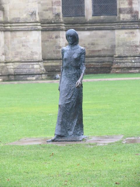 Walking Madonna sculpture by Elisabeth Frink