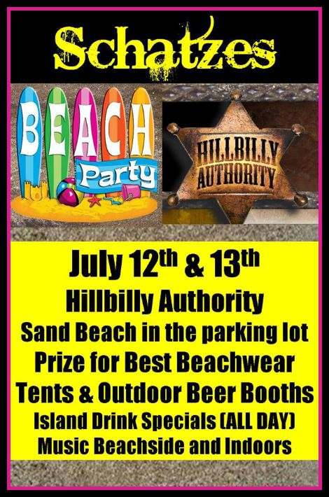 Schatze's Beach Party 7-12, 7-13-13