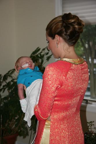 Holding my nephew before the ceremony