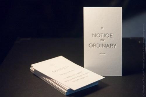 Визитная карточка, высокая печать